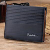 Mężczyźni Bifold Leather Credit Identyfikator Uchwyt Karty Portfel z posiadaczami kart kieszonkowych na monety Człowiek torebki wysokiej jakości