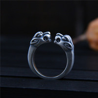 990 sterling silver rings vintage Retro personality handmade...