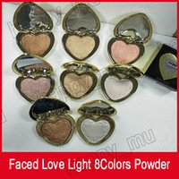 عينيه الوجه لوحة على شكل قلب بودرة 8 ألوان تمييز مسحوق لوحة ضوء الحب تمييز دي إتش إل الحرة