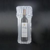 24 cm * 42 cm 24 x 42 cm 7 columna a prueba de golpes resistencia a la compresión de nylon película de coextrusión PO inflable botella de aire botella de vino rojo
