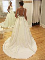 Свадебное платье A-Line Matte Matte Satin Wedding Dodowess Custom Made Bridal Plach Vestido de Noiva