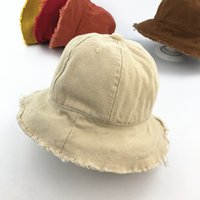 Kids Kinderen enfants primavera estate cotone nappa a tesa larga cappelli da  sole beige rosso solido 532df2da7d34