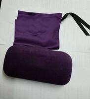 Purple Shell Velvet Lunettes de soleil Lunettes Lime Velvet Hard Case Box + Tissu Pochette en soie Nice Nouveau