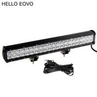 HELLO EOVO 20 Pouce 126W LED Barre de travail + Kit de câblage pour travaux hors route, conduite de bateau offroad, camion de voiture, 4x4 SUV, ATV Combo