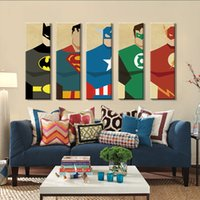 7 Photos Wholesale Superhero Canvas Art