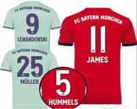 Bayern Munich soccer jersey 2018 19 HOME AWAY SHIRT Müller R...