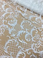High quality french lace fabric tulle net lace Milk Silk fab...