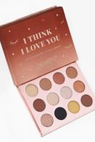 Yeni Colourpop Sanırım Seni Seviyorum Göz Farı Paleti 12 Renkler Güzellik Kozmetik Su Geçirmez Doğal Uzun ömürlü Ücretsiz kargo