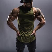 Homens casuais ginásio fitness tanques de fitness tops masculino verão absorção ativa corredor sem mangas t-shirts coletes camiseta