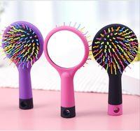1pc arco-íris volume anti-estático magia detangler cabelo onda reta