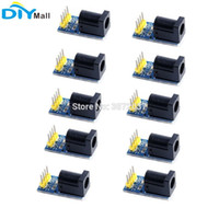 10 unids / lote Power DC Socket Plug Module Adapter Board para Arduino 5.5 * 2.1 mm