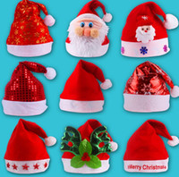 5 photos wholesale lighted christmas hats online bright christmas hat adult child cute santa claus caps xmas