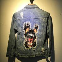 2018 marca dos homens jaqueta jeans de alta qualidade moda jeans jaquetas slim fit casual streetwear buraco bulldog jean clothing