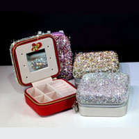 Bling Bling Women Jewelry Boxes Small Leather Packaging Disp...