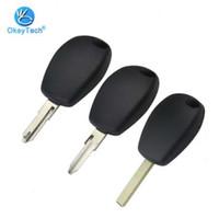 OkeyTech Remote Auto Car caso chiave coperchio di ricambio Fob Uncut Blank NE73 / VA6 / VAC102 lama nessun tasto chiave Shell Per Renault Logan