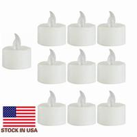 Запас в мерцающей Батарее США Управляются светодиодными свечи чая светло-желтые Свечи беспламенной бездымных Романтических свеч