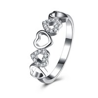 Wholesale High Quality 925 Sterling Silver Ring Heart- shaped...