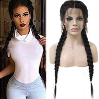 ZhiFan braided lace front wigs 26inch braided wigs for black...