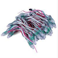 12mm WS2811 RGB pixel module LED, IP68 DC5V chaîne pleine couleur noël lumière LED adressable WS2801 module LED