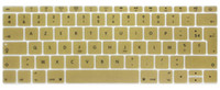 Funda con teclado de silicona AZERTY French UK para MacBook New Pro 13