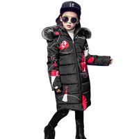 Teenager 2018 Neue Schwarz Rot Dicker Mantel Winter Tragen Kostüm Für Größe 6 7 8 9 10 11 12 13 14 Jahre Kind Lässige Daunenjacken