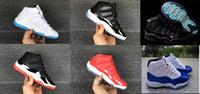 Toptan 11 Balo Gece Gym Kırmızı Midnight Donanma Siyah Stingray Concord Uzay Reçel Ayakkabı Getirdi 11 s Mens Womens Çocuk Basketbol Sneaker