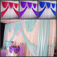 Wedding Party Stage Celebration Background Satin Curtain Dra...