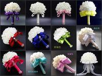 Gelin Düğün Buketleri Nedime Buketi Kristalleri ile Yapay Gül Çiçekler Parti Düğün Aksesuarları Için