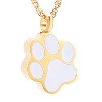 IJD8451 Hundepfotenabdrücke Save Love Pills Feuerbestattung Urn Halskette Anhänger Flasche Aschehalter Mini Andenken Memorial Schmuck