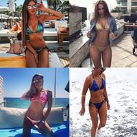 Yumuşak bar-pad payetler ile 2018 yeni seksi bikini set mayo seksi renkli 4 renkler bling tarzı parlak mayo Shining bikinis