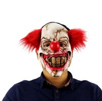 Halloween Mask Scary Clown Latex Full Face Mask Big Mouth Re...