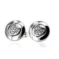 Новые аутентичные 925 стерлингового серебра стерлингового серебра 925 с кристаллическими серьгами для женщин для женщин свадебный подарок пригодиться Уондмо-очарование DIY ювелирные изделия