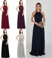 Bridesmaids Dresses Long Elegant Gorgeous Sexy O Neck Floor ...