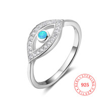 Guangzhou high quality 925 sterling silver evil eye ring for...