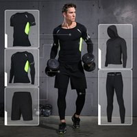Brand Running Set 2018 Mens Sports Suits Fitness Training Sp...