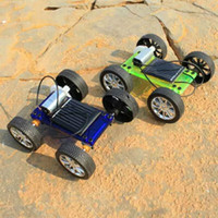 DIY solar toys car three colors diy solar educational toy mi...