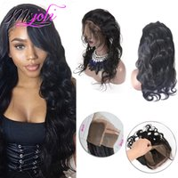 Brazilian Indian 100% Virgin Human virgin Hair 360 Lace Fron...