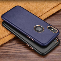 Custodia in pelle di lusso Ruzsj per Iphone X Coque Cover Custodie rigide posteriori originali in vera pelle