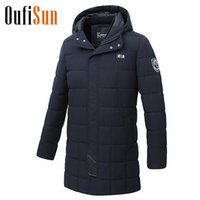 Oufisun Men Autumn Winter Casual Long Warm Jacket Parkas Coa...