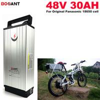 Batterie 48V 30AH Lithium für Bafang 1200W Motor E-Bike Elektro-Fahrrad-Batterie 48V 13S Akku + 2A Charger Kostenloser Versand