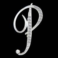 26 A-Z Crystal Lettera inglese Brooch Diamond Initial Lepal Pins Spille Badge Badge Moda Gioielli per le donne Uomini Volontà e regalo sabbioso