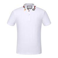 Alta qualidade marca new designer de luxo homens polo camisa ocasional t camisas medusa mens polos high street bordados cobra abelha polo camisas 3xl