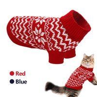 Pet Cat Puppy Sweater Winter Cat Clothes For Small Medium Do...