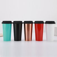 Stainless steel cups 500ML Water Cup Wine Tumbler Double Lay...