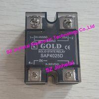 100 ٪ جديدة ومبتكرة SAP4025D GOLD مرحلة واحدة تتابع الحالة الصلبة SSR 3-32VDC ، 40-480VAC 25A