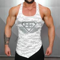 Ingénieurs du corps chaud Camouflage Bodybuilding Hommes Débardeur Fitness Stringer Vest Casual Gyms T-shirts Sans Manches Sous-Vêtements Vêtements