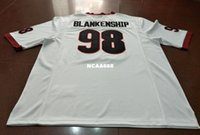 40ed3bba3 New Arrival. Men  98 Rodrigo Blankenship Georgia Bulldogs Replica red black  white Football Jersey or custom ...