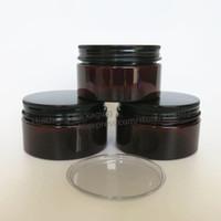 Vaso di plastica vuoto ambrato da 20 x 100 grammi con flacone per il trucco della bottiglia Confezione cosmetica Contenitori per crema per le mani Vasi per maschera facciale