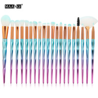 MAANGE 20Pcs Kit Makeup Brushes Set Powder Eye Shadow Founda...
