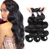 Ishow cheveux humains 10A Peruvian Body Wave Bundles Cheveux Pour Femmes Filles Tous âges 3PCS 100% Remy Extensions Wefts Tissu Couleur naturelle 8-28 pouces